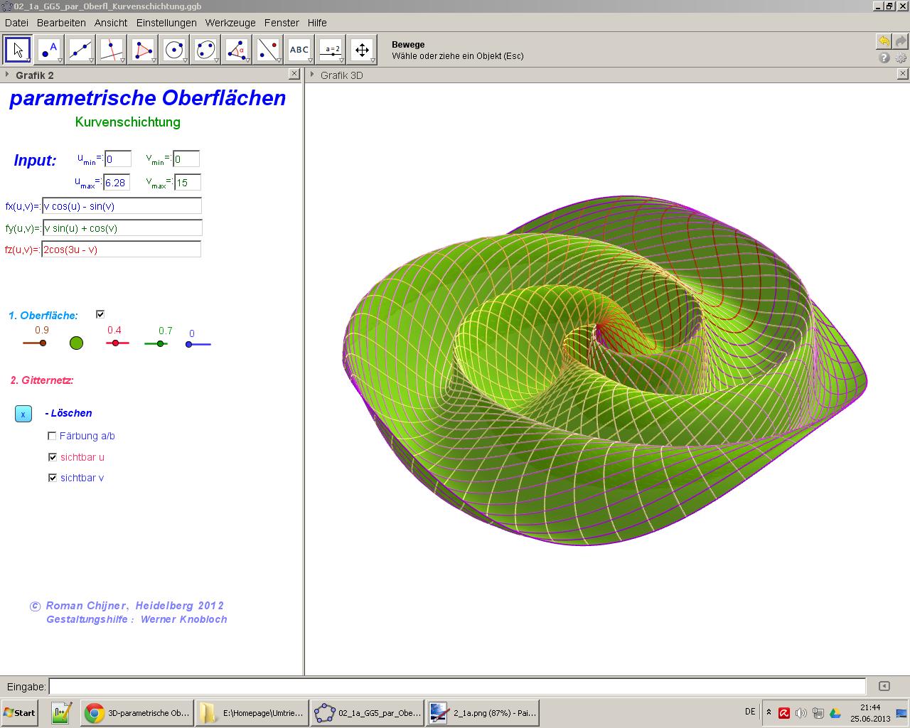 3D-parametrische Oberflaechen